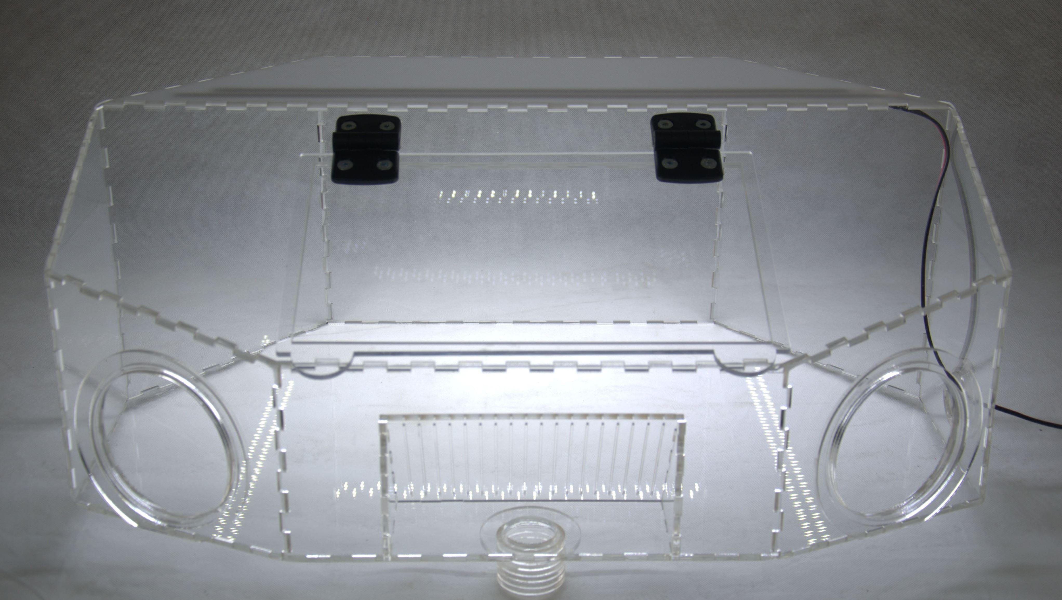 Caja arenado laser